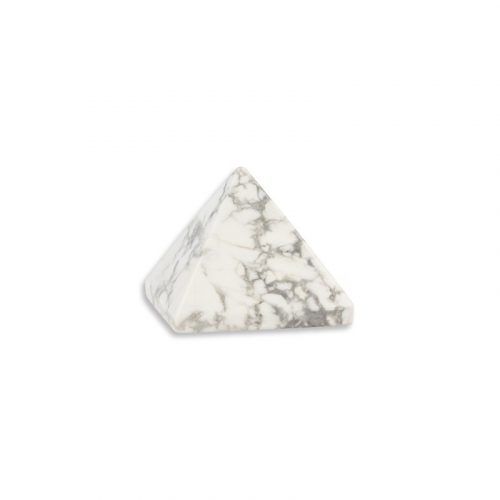Piramide Edelsteen Howliet Wit (25 mm)