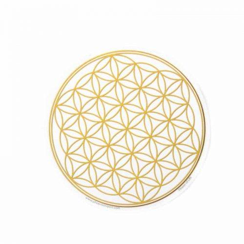 Raamsticker Flower of Life Goudkleurig