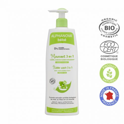 Alphanova Biologische 3 in 1 Bubble Wash voor Baby's