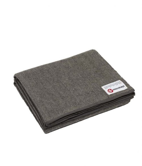 Manduka Recycled Wollen deken - Sediment