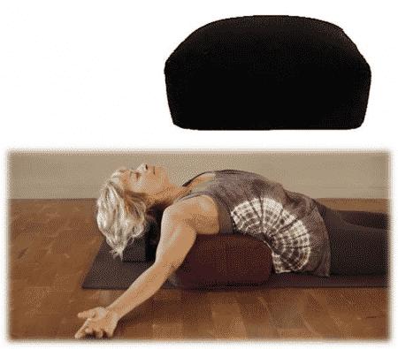Meditatiekussen-Bolster Zwart Rechthoekig