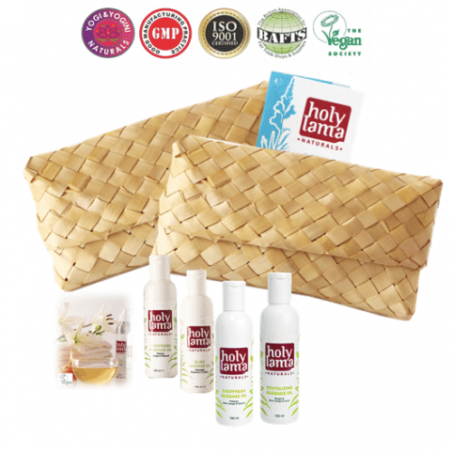 Holy Lama Naturals Ayurvedische Travel Kit 'Massage Boon'