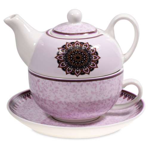 Tea for One Mandala Paars