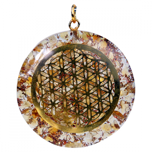 Orgon Hanger Flower of Life Citrien