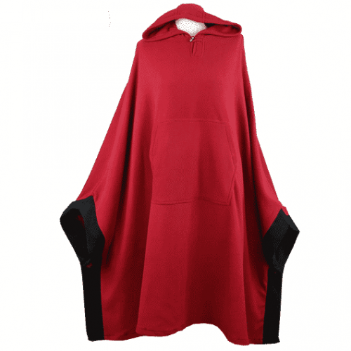Meditatie poncho (fleece bordeaux)