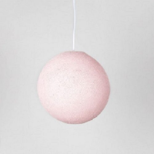 Cotton Ball Hanglamp Licht Roze (Large)