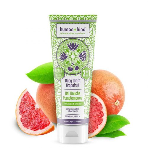 Human + Kind Shampoo Body Wash Grapefruit Vegan All-in-one