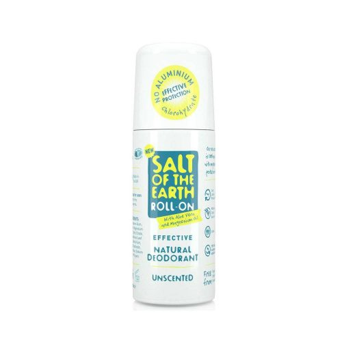Salt of the Earth Natural Unscented Roll-On Deodorant (75 ml)