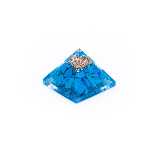 Orgonite Piramide Mini Turkoois (25 mm)