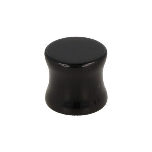 Plug Oorpiercing Obsidiaan Zwart (12 mm)