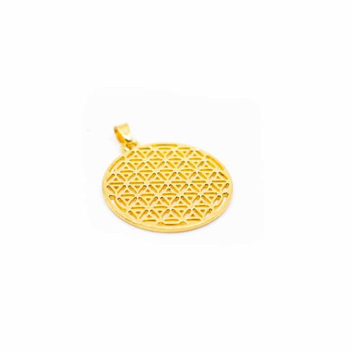 Flower of Life Hanger - Goudkleurig
