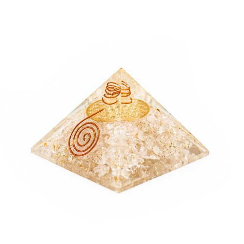 Orgonite Piramide Bergkristal - Flower of Life - (70 mm)