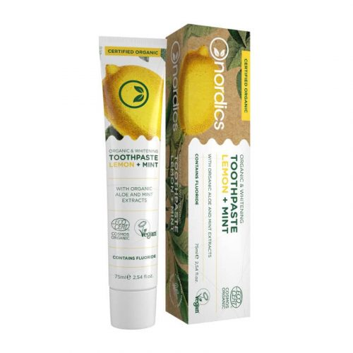 Nordics Vegan Tandpasta Lemon Mint BIO met Fluriode