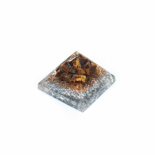 Orgonite Piramide Mini Tijgeroog (25 mm)