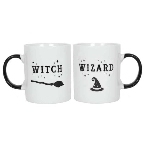 "Mokken ""Witch"" en ""Wizard"" (Set van 2)"
