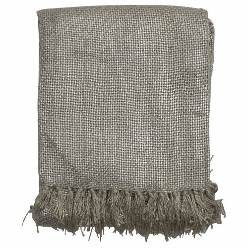 Katoenen Kleed Gypsy Throw Beige (180 x 130 cm)