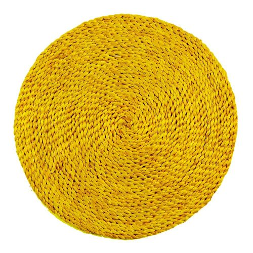 Gele Jute Placemat (35 cm)