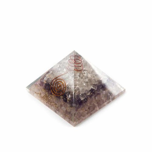 Gouden Driehoek Orgonite Piramide (70 mm)