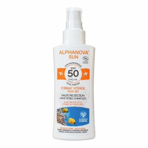 Alphanova SUN Vegan BIO SPF 50 Spray TRAVEL Gevoelige Huid