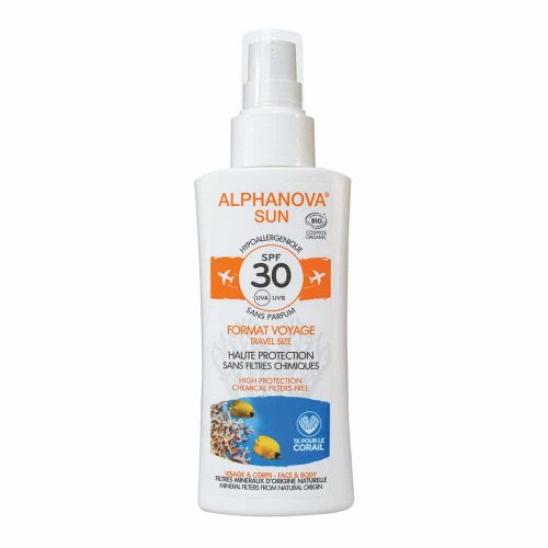 Alphanova SUN Vegan BIO SPF 30 Spray TRAVEL Gevoelige Huid