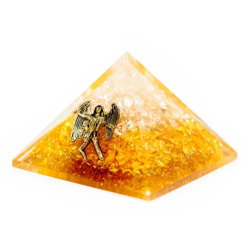 Orgonite Piramide Citrien  - Engel - (40 mm)
