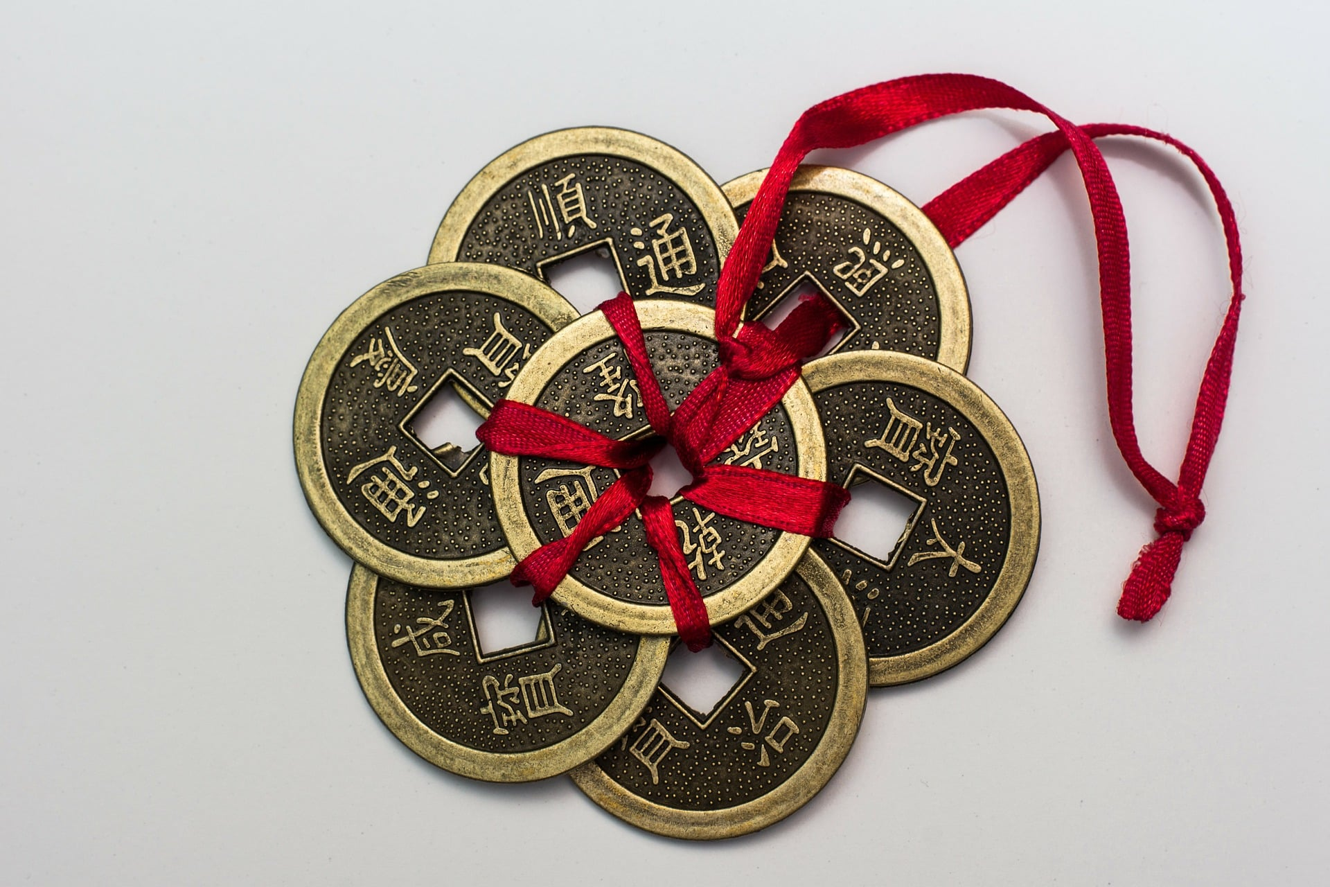 Chinese Lucky Coins for I Ching