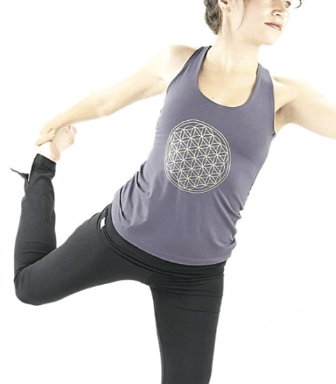 Yoga Top 'Flower of life' Donkergrijs M