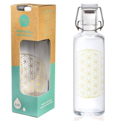 Soulbottle Waterfles Flower of Life - 600 ml