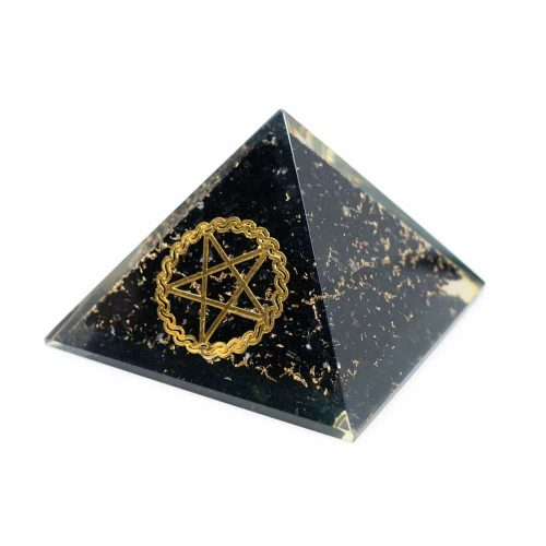 Orgonite Piramide Zwarte Toermalijn - Pentagram - (70 mm)