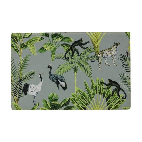 Deurmat Jungle Wit (75 x 50 cm)