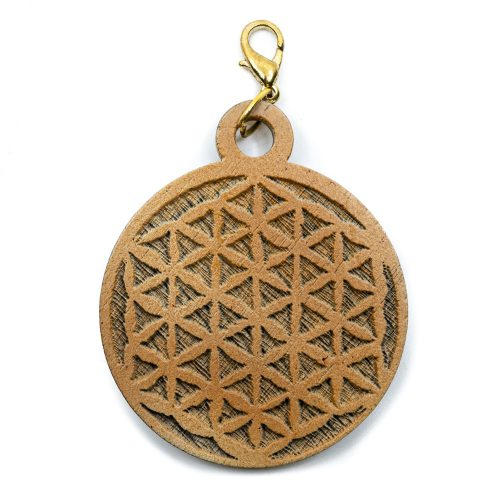 Hanger Flower of Life Hout