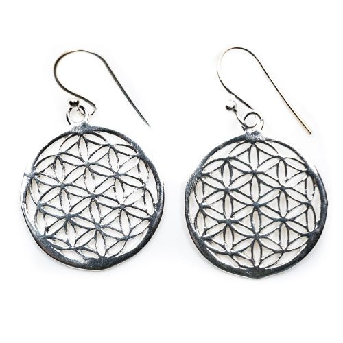 Zilveren Oorbellen Flower of Life (20 mm) - 925 Sterling