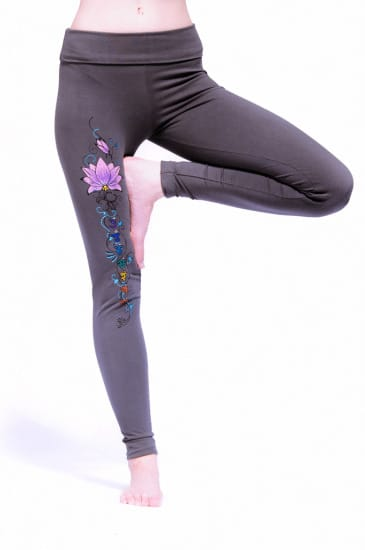 Yoga Leggings Lotus Grijs M